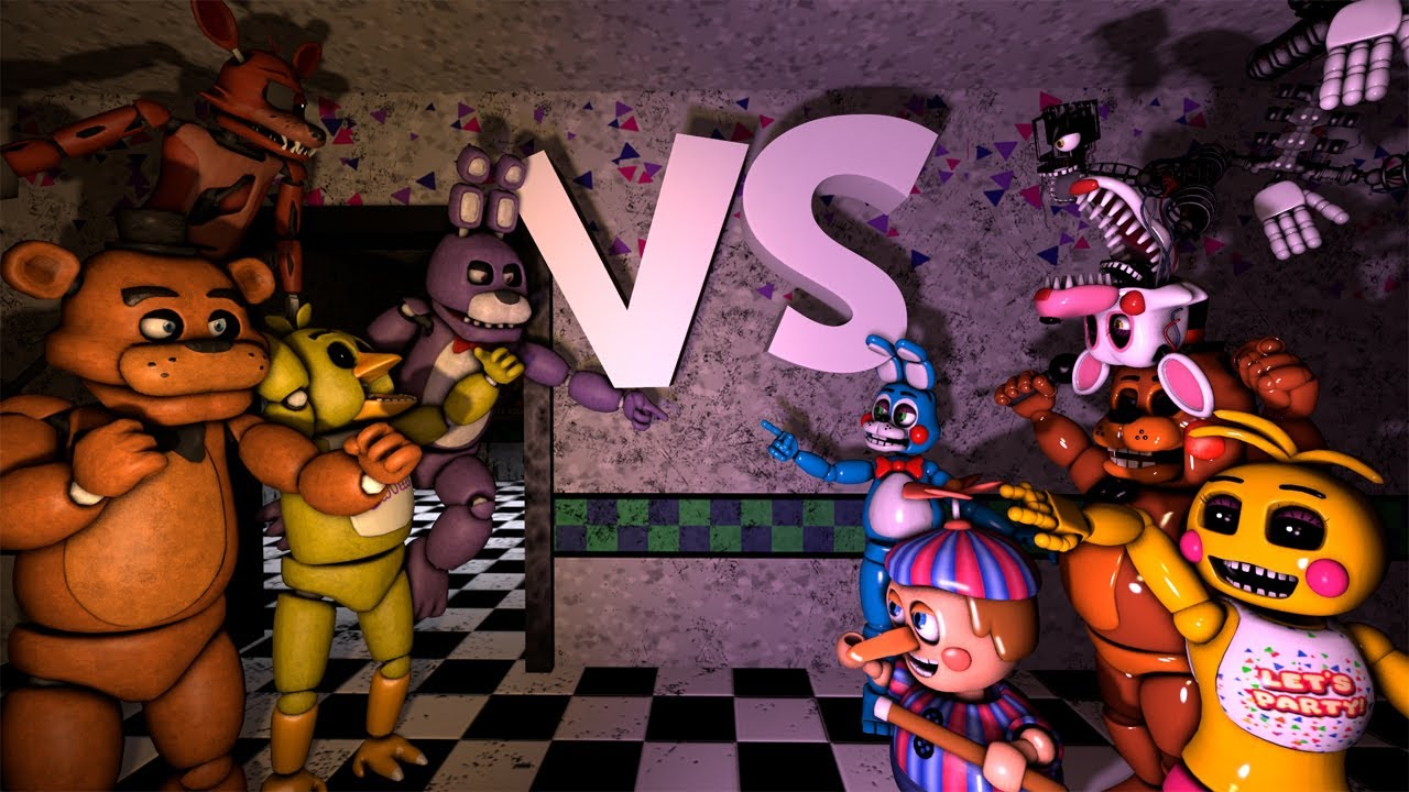 Sfm Five Funky Nights At Freddy S 2 Hd Remake By Father Ferguson Youtube