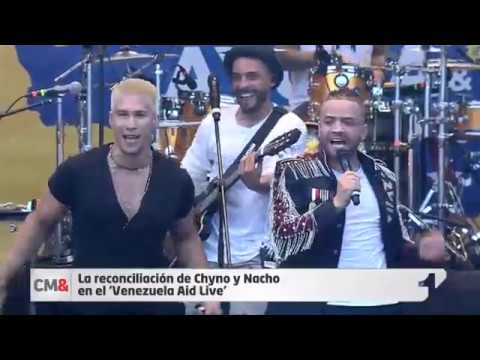 La Reconciliación De Chyno Y Nacho En El 'Venezuela Aid Live'