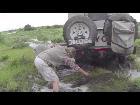 Botswana Central Kalahari Safari Land Rover & Toyota - 4 recoveries