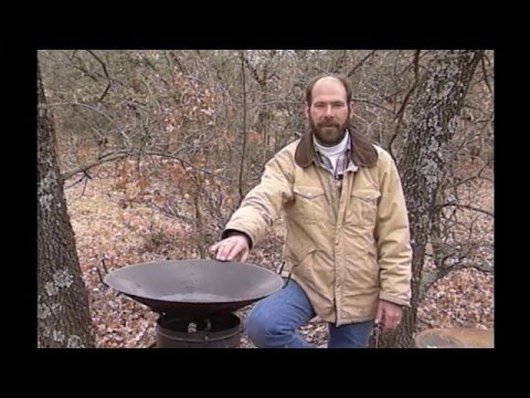 How to make an outdoor wok for cooking