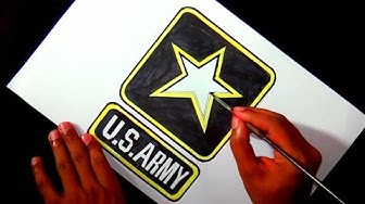 How to draw the US Army logo