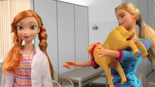 Барби Собака родила Мультик  видео с игрушками игры для девочек