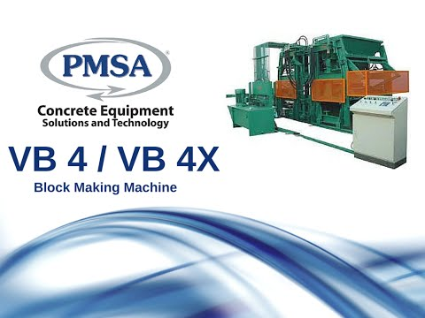 PMSA VB4/VB4X Brick & Block Machine