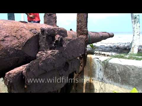 Rusted cannon from World war II in Andaman Island