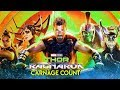Thor: Ragnarok (2017) Carnage Count