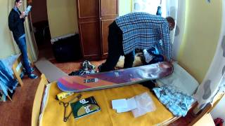 Snowboard Burton Sherlock 2012. Распаковка rus