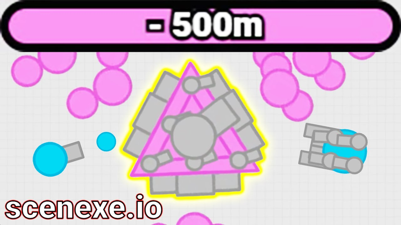 The Next Diep.io Game - Scenexe.io (500M Score)