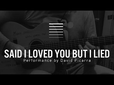 Michael Bolton - Said I Loved You But I Lied guitar solo (David Piçarra cover)