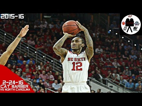 Anthony Cat Barber Full Highlights vs North Carolina (2-24-16) 32 Pts 6 Rebs 3 Asts, SCORING MACHINE