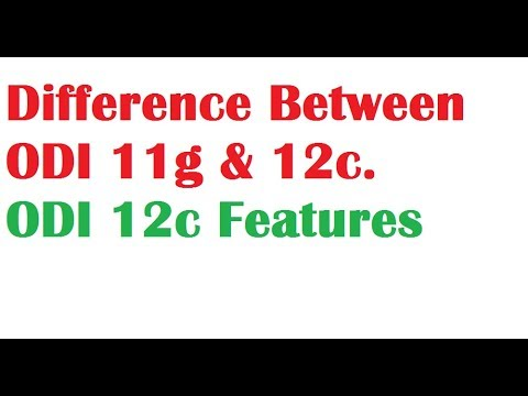 Oracle Data Integrator Difference between 11g and 12c versions