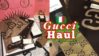 Unboxing GUCCI Scarf GG jacquard wool silk and GUCCI GG socks Marta In_Vogue_UK