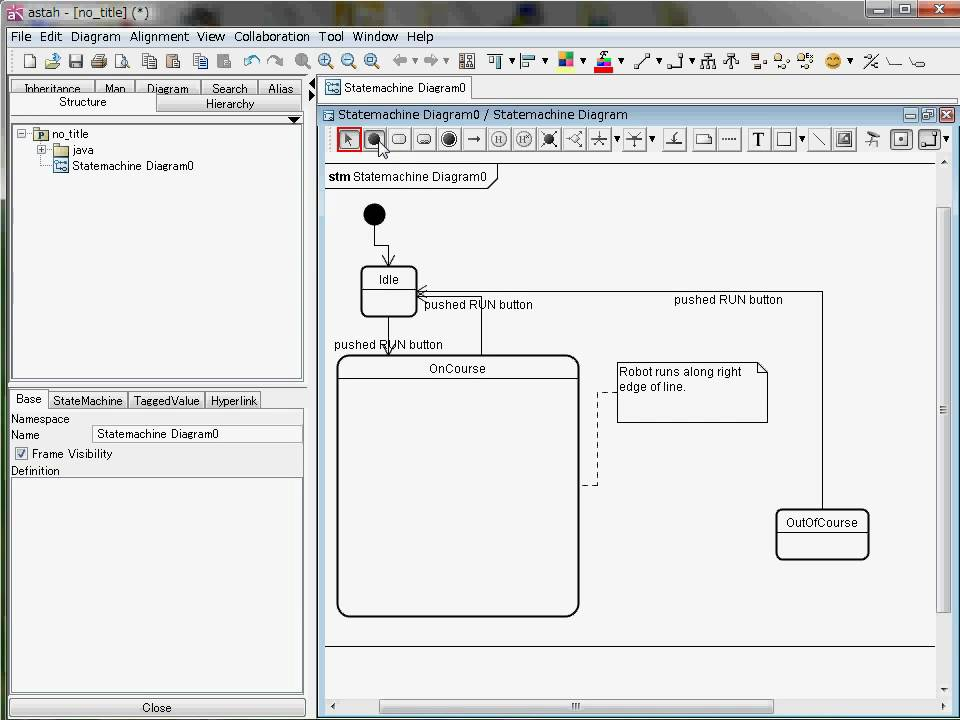 Astah Statemachine Diagram Uml Youtube