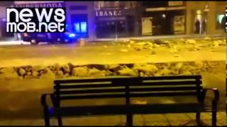 Riots in city of Burgos - Spain