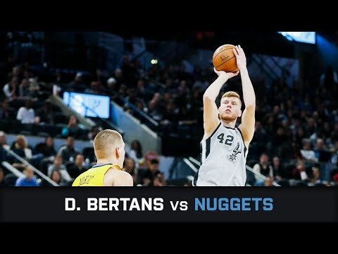 Davis Bertans' Highlights: 18 PTS, 1 AST, 6 threes vs Nuggets (13.01.2018)