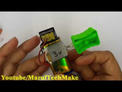 How To Make Electric Pencil Sharpener- Save Your School Time