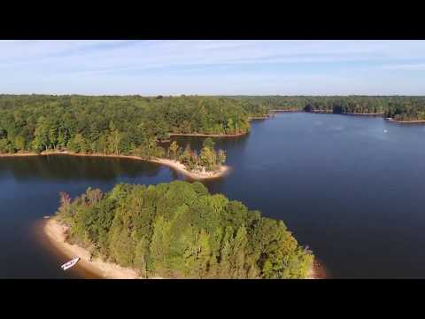 Drone over Falls Lake NC