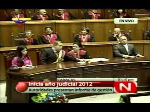31 ENE 2012 Pdte Hugo Chávez Asiste a Acto de Inicio del Año Judicial 2012