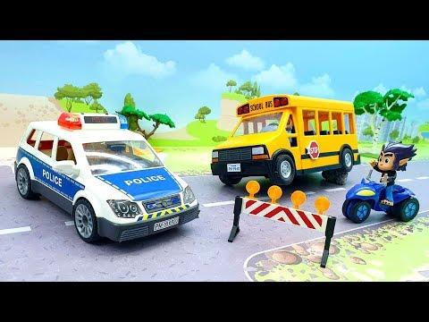 Полицейские автомобили и автобус  - Злодейские гонки! Новое видео 2020 года.