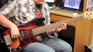 Bruno Mars \\\ Runaway Baby (Live at the Grammys 2012) Bass Cover