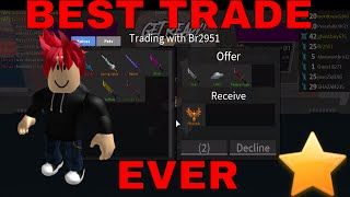 BEST TRADE EVER!!! (ROBLOX ASSASSINS BEST TRADE)