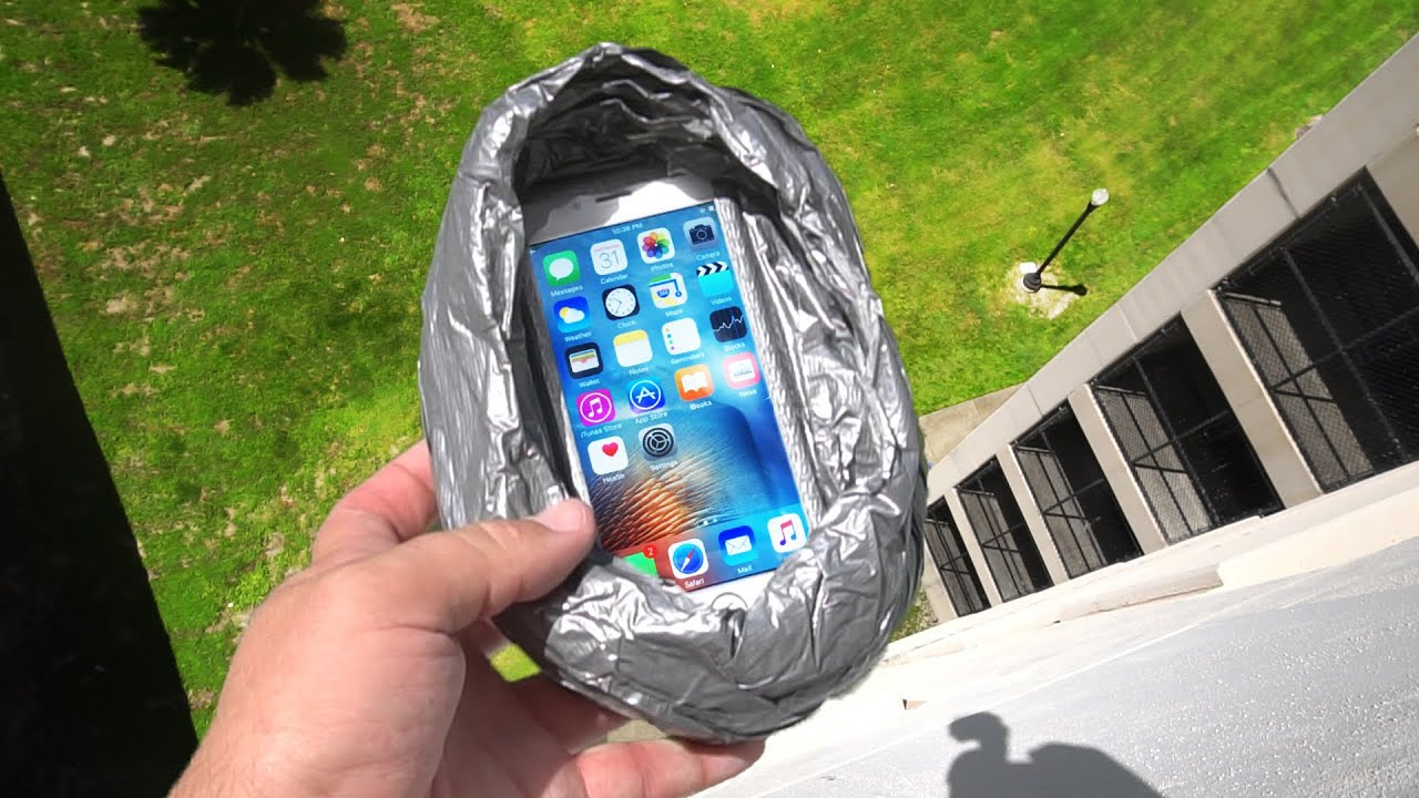 Can Duct Tape Protect IPhone 6s From 100 FT Drop Test