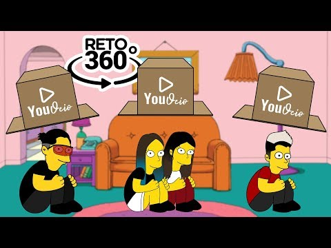 NO ELIJAS LA CAJA INCORRECTA VERSIÓN YOUTUBERS EN LOS SIMPSON | RETO 360