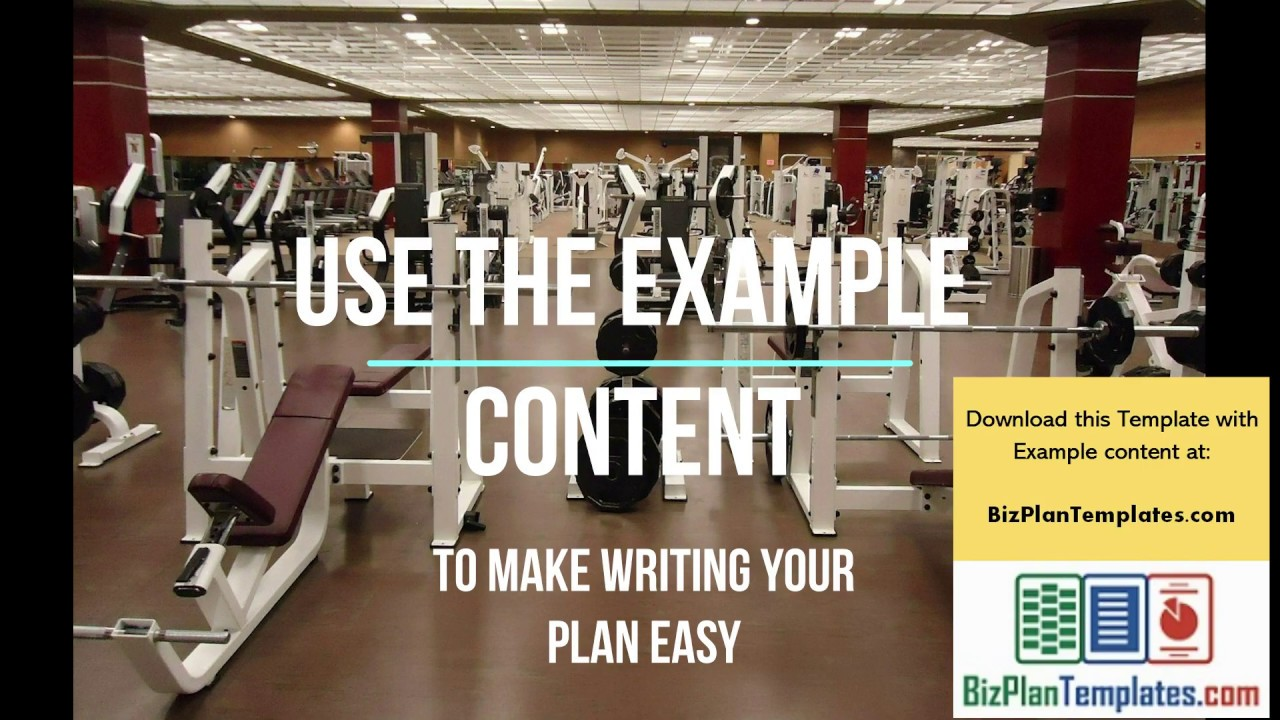 Fitness gym business plan example youtube