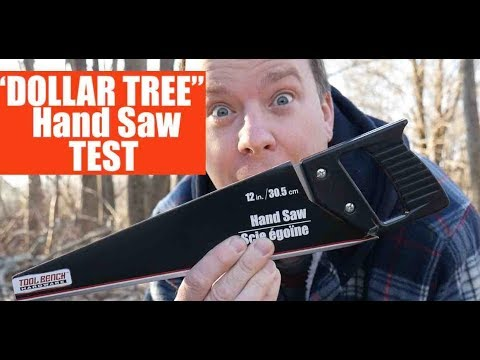 Trying A $1 Hand Saw From The