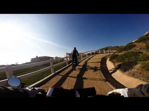 Electric Supermoto Yucaipa Trail ride