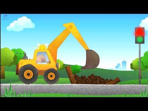 เกมส์ควบคุม รถตักดิน รถปูน รถดั้ม รถขยะ - วีดีโอสำหรับเด็ก-Vroom! Cars & Trucks for Kids