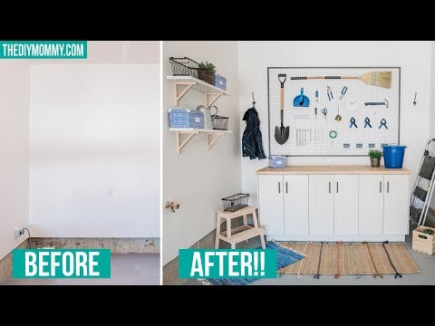 DIY Garage Storage | Workbench & Framed Pegboard