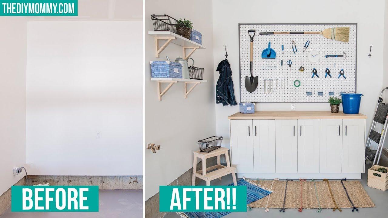Home Style Beauty Scenery Diy Garage Storage Workbench