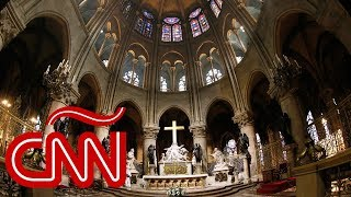 Mira en 360° el interior de Notre Dame antes del incendio