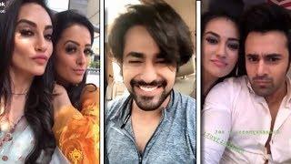 Naagin 3 Actress    Maahir, Bela, Vishaka, Annu    Back Stage in TikTok Masti