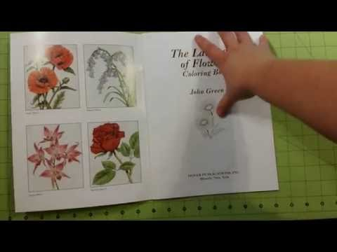 The language of flowers adult dover coloring book review flip through