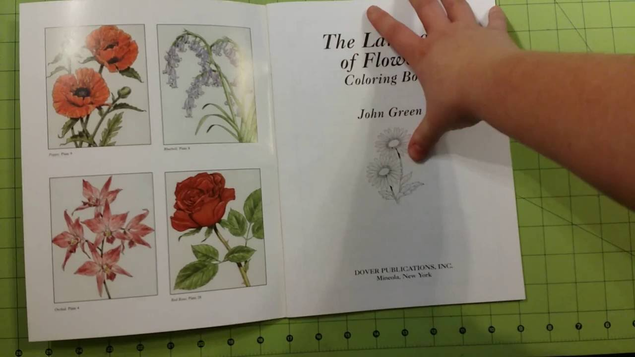 The language of flowers adult dover coloring book review flip ...