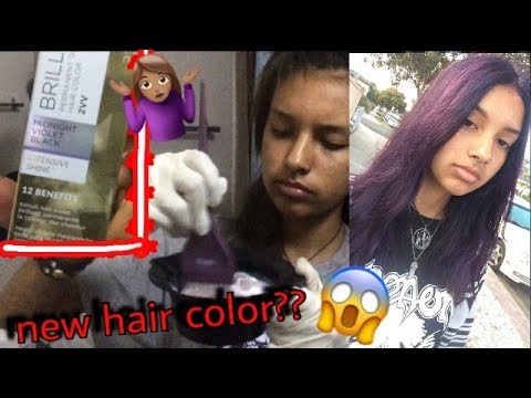 Dying My Hair Midnight Violet Black