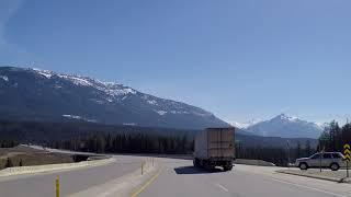 Driving to Golden BC Canada - Near Alberta Border - Small Town British Columbia