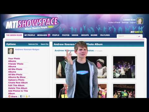 Andrew Keenan-Bolger Steps Inside MTI ShowSpace...Literally!