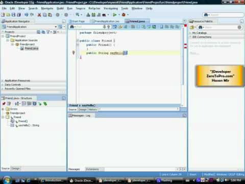 Oracle Developer - Creating Your First Java Class