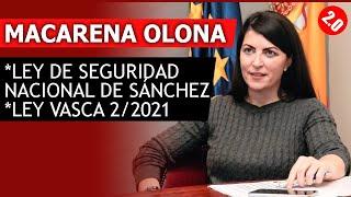 MACARENA OLONA LEY VASCA Y LEY SEGURIDAD NACIONAL