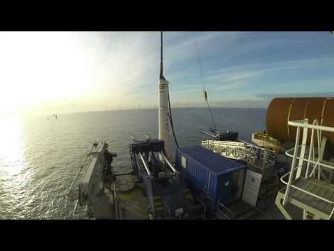 time lapse offshore piling