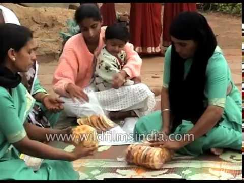 Bakery run by women in Karnataka, India: archival footage