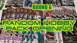 Random Football Card Hobby Pack Opening Round 6