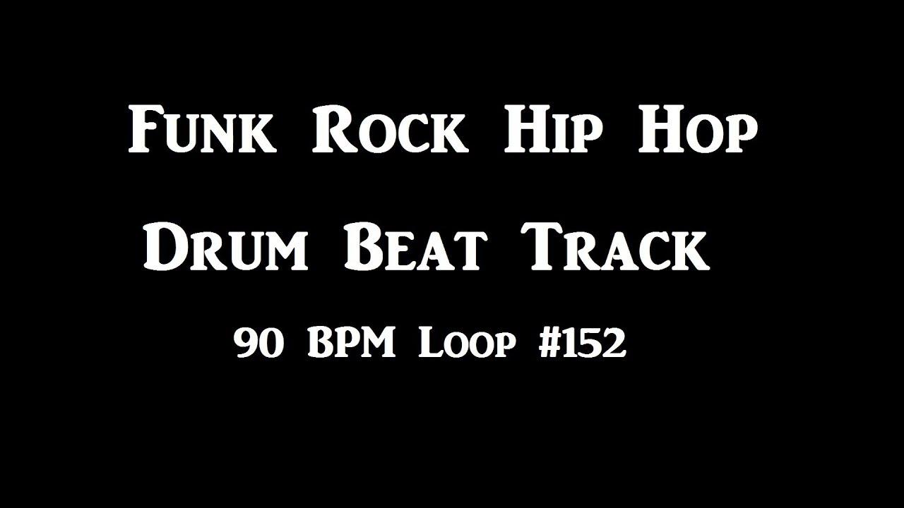 Funk Rock Hip Hop Drum Beats 90 BPM Tracks For Bass Guitar