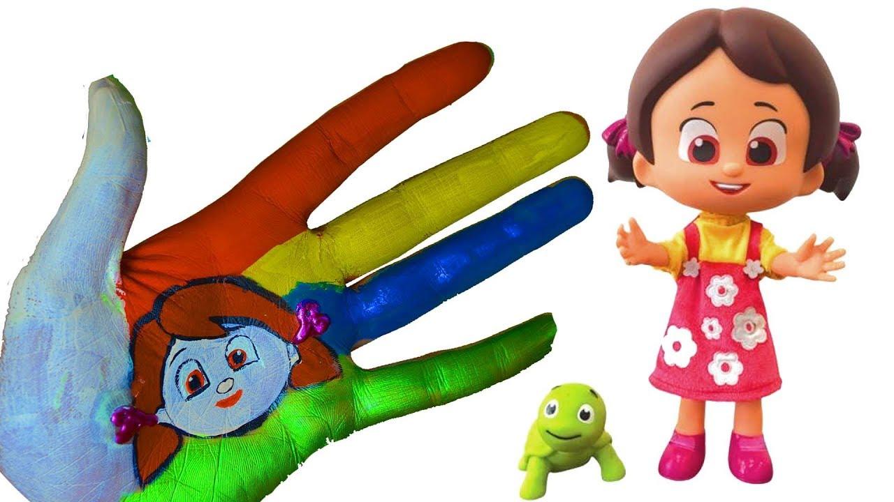 Niloya El Boyama Renkleri öğreniyorum Parmak Ailesi çocuk şarkıları