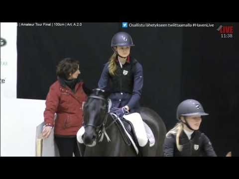 Lindström Linnea & Grand Bijou, Palkintojenjako 100cm @ Helsinki Int. Horse Show 18-22.10.2017
