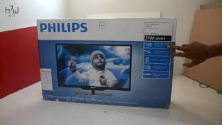 Philips 4000/5000 Series HD Ready LED TV (Black) UNBOXING and REVIEW