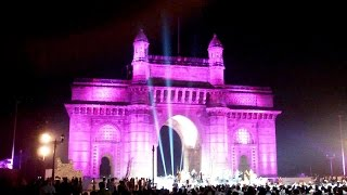 GATEWAY OF INDIA MUMBAI INDIA - Amazing Light Show Powered By Phillips - Compilation 2014 [HD VIDEO]