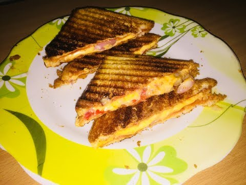 Cheese Sandwich Recipe | Onion Tomato Sandwich | Breakfast Quick Recipe | Kids Lunch Box Recipe |